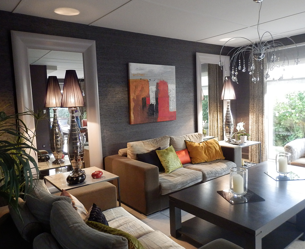 Décoration salon et murs gris - Bleu Patine