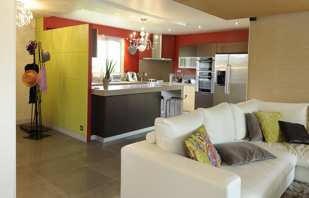Salon et cuisine moderne