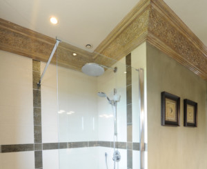 Plafond ornement salle de bain - Bleu Patine